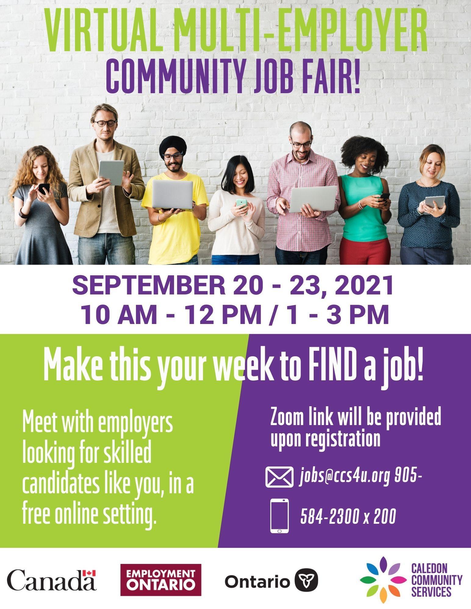 Jobs Caledon Virtual Multi Employer Job Fair - JS